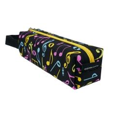 Agifty Renkli Nota Basklı Kalem Kutusu  (20 x 5.5 x 5.5 Cm)