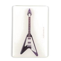 Agifty V Siyah Elektro Gitar Magnet (8 x 5.5 Cm)