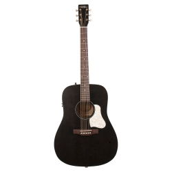 Art & Lutherie Americana Faded Black Cw Qit Elektro Akustik Gitar (Faded Black)
