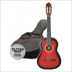 Ashton CG14 Junior 1/4 Klasik Gitar Seti Kırmızı