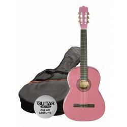 Ashton CG14 Junior 1/4 Klasik Gitar Seti Pembe