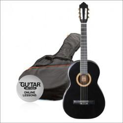Ashton CG14 Junior 1/4 Klasik Gitar Seti Siyah