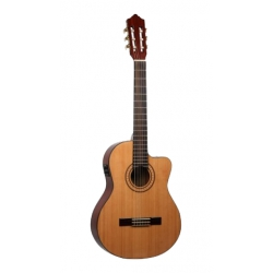 Ashton CG60CEQBR Elektro Klasik Gitar