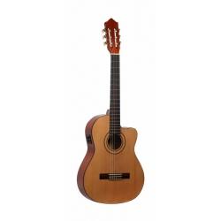 Ashton CGFLCEQ Flamenko Elektro Klasik Gitar (Natural)