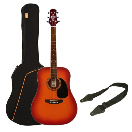 Ashton D25 Akustik Gitar Paketi (Cherry Sunburst)<br>Fotoğraf: 1/1