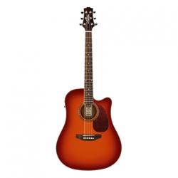 Ashton D25CEQ Elektro Akustik Gitar Paketi (Cherry Sunburst)