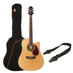 Ashton D25CEQ Elektro Akustik Gitar Seti (Natural)