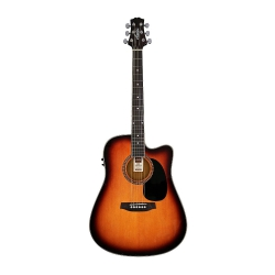 Ashton D25CEQ Elektro Akustik Gitar Seti (Tobacco Sunburst)