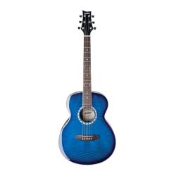 Ashton SL29 Akustik Gitar (Transparent Blue Burst)