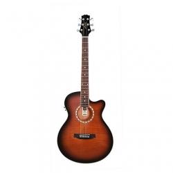 Ashton SL29CEQ Solak Elektro Akustik Gitar (Tobacco Sunburst)