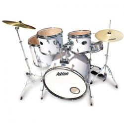 Ashton TDR520WH Beyaz Akustik Davul Seti