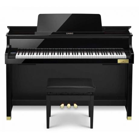 Casio Celviano Grand Hybrid GP-500BP Dijital Piyano (Parlak Siyah)<br>Fotoğraf: 1/3