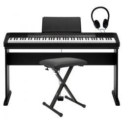 Casio PROMO CDP-130B Dijital Piyano Seti (Stand + Tabure + Kulaklık)