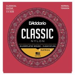 D'Addario Classic EJ27N 3/4 Normal Tansiyon Klasik Gitar Teli