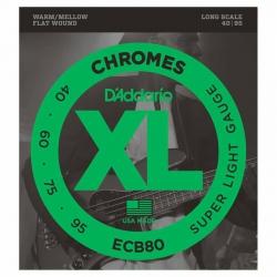 D'Addario ECB80 Chromes Bas Gitar Teli (040-095)