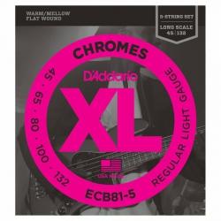 D'Addario ECB81-5 Chromes 5 Telli Bas Gitar Teli (045-132)