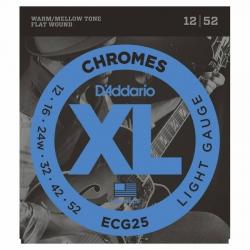 D'Addario ECG25 Chromes Elektro Gitar Teli (012-052)