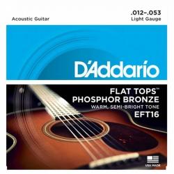 D'Addario EFT16 Flat Tops Akustik Gitar Teli (012-053)