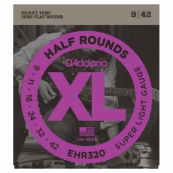 D'Addario EHR320 Half Round Elektro Gitar Teli (009-042)