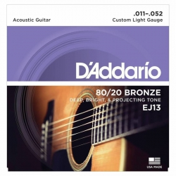 D'Addario EJ13 80/20 Bronze Akustik Gitar Teli (011-052)