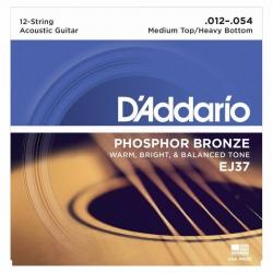 D'Addario EJ37 12 Telli Akustik Gitar Teli (012-054)