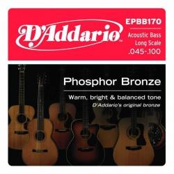 D'Addario EPBB170 Akustik Bas Gitar Teli (045-100)