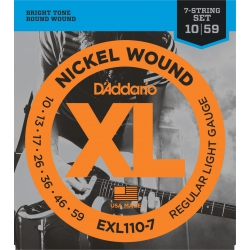 D'addario EXL110-7 Nickel Wound Set 7 Telli Elektro Gitar Teli (10-59)