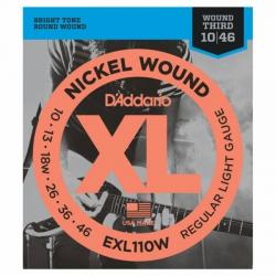 D'Addario EXL110W 3RD Wound Elektro Gitar Teli (010-046)