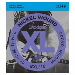 D'Addario EXL115 Blues / Jazz Elektro Gitar Teli (011-049)