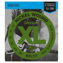 D'Addario EXL117 Drop D Elektro Gitar Teli (011-056)