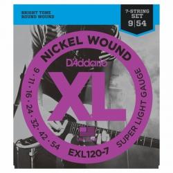 D'Addario EXL120-7 7 Telli Elektro Gitar Teli (009-054)