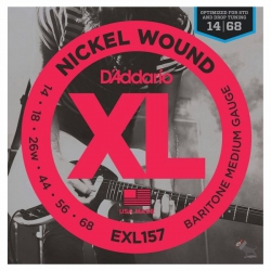 D'Addario EXL157 Baritone Elektro Gitar Teli (014-068)