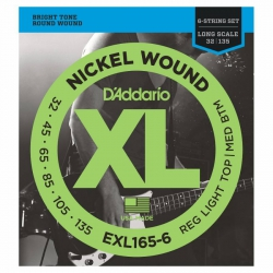 D'Addario EXL165-6 Long Scale 6 Telli Bas Gitar Teli (032-135)