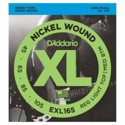 D'Addario EXL165 Long Scale Bas Gitar Teli (045-105)