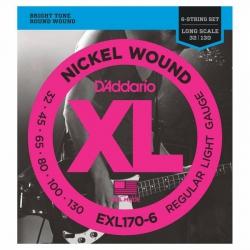 D'Addario EXL170-6 Long Scale 6 Telli Bas Gitar Teli (032-130)