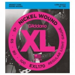 D'Addario EXL170 Long Scale Bas Gitar Teli (045-100)