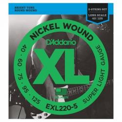D'Addario EXL220-5 Long Scale 5 Telli Bas Gitar Teli (040-125)