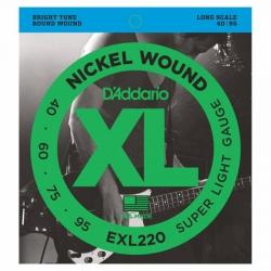 D'Addario EXL220 Long Scale Bas Gitar Teli (040-095)