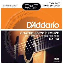 D'Addario EXP10 80/20 Akustik Gitar Teli (010-047)