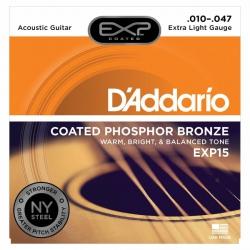 D'Addario EXP15 Akustik Gitar Teli (010-047)
