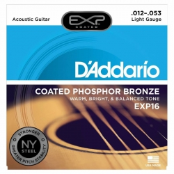D'Addario EXP16 Akustik Gitar Teli (012-053)