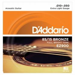 D'Addario EZ900 85/15 Bronze Akustik Gitar Teli (010-050)