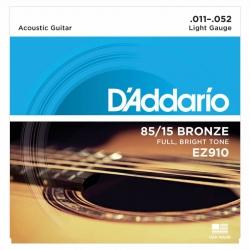 D'Addario EZ910 85/15 Bronze Akustik Gitar Teli (011-052)