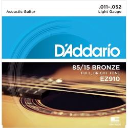 D'Addario EZ910 Bronze Light Set Akustik Gitar Teli (11-52)