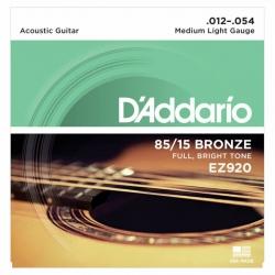 D'Addario EZ920 85/15 Bronze Akustik Gitar Teli (12-54)