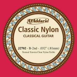 D'Addario J2702 Normal Tension Tek Klasik Gitar Teli (B)