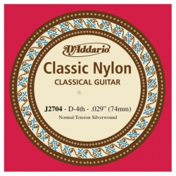 D'Addario J2704 Tek Klasik Gitar Teli (D)