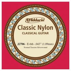 D'Addario J2706 Student Nylon Normal Tension Klasik Gitar Tek Mi Teli