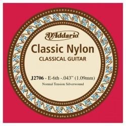 D'Addario J2706 Tek Klasik Gitar Teli (E)