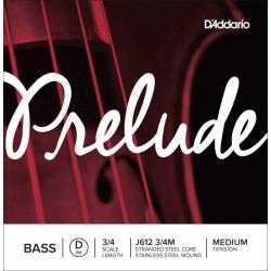 D'Addario J612 3/4M Prelude Tek Bas Teli (D)